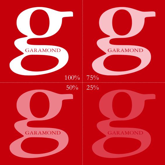 Nuances de blanc sur papier rouge